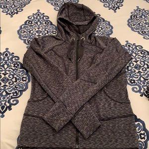 Athleta gray zip hoodie